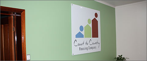 Internal Perspex Mounted Sign